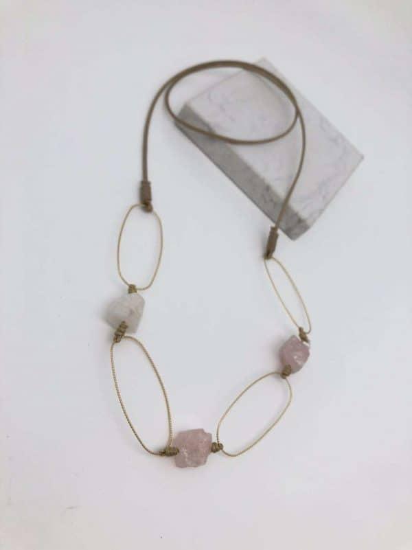 Alaine Necklace Pink Quartz