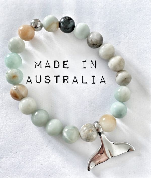 Whale Tail Bracelet Amazonite