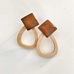 India Wood Earrings