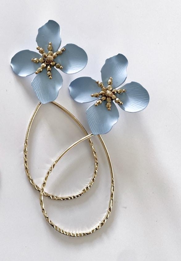 Louisa Earrings Powder Blue