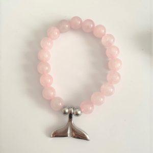 Whale Tail Bracelet Pink Quartz