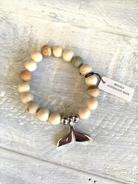 Whale Tail Bracelet Picture Stone