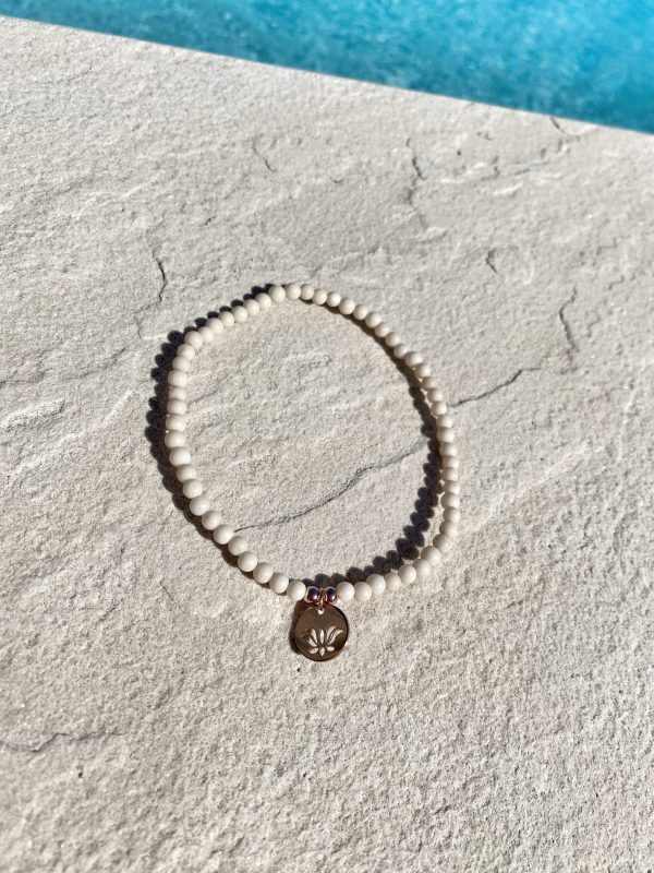 Natural Stone (River Stone) Bead Anklet 1